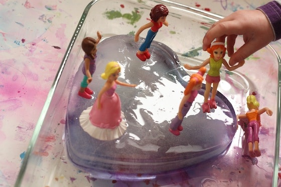 Ice Painting Activity turned Polly small world Ice play - Happy Hooligans