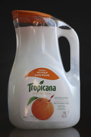 Homemade Laundry Detergent in a juice jug