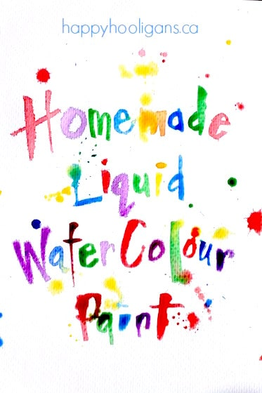 How to make Homemade Liquid Watercolours with Dried Out Markers