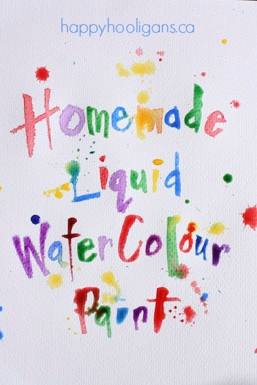 homemade liquid watercolor paint for kids - happy hooligans