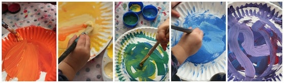 Painting Paper Plates For Colour Wheeljpg