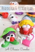 Play Dough – Potato Head Activity for Toddlers and Preschoolers