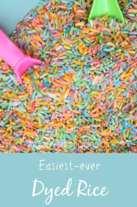 Easiest-ever dyed rice
