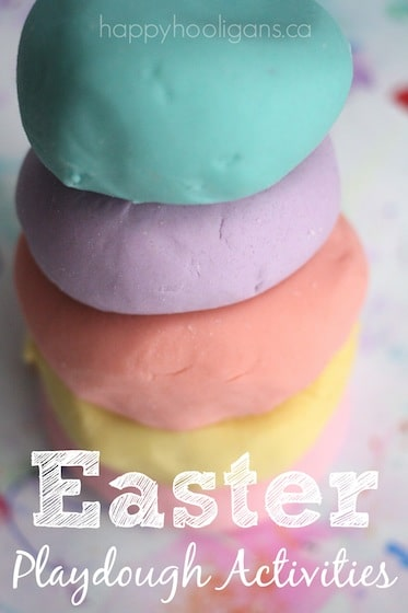 Easter Playdough Activities for Toddlers