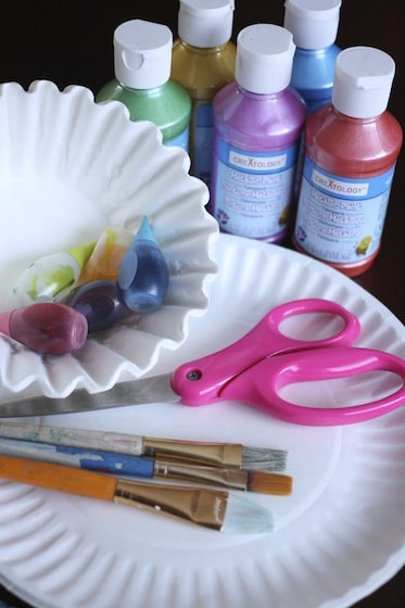 supplies for coffee filter easter wreaths
