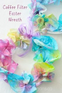 Coffee Filter Easter Wreath