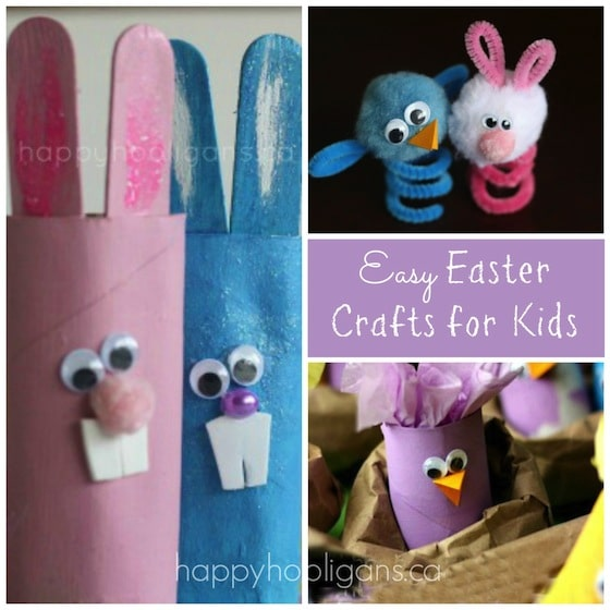 Kids Craft Ideas Easy Part - 33: Easy Easter Crafts For Kids - Happy Hooligans