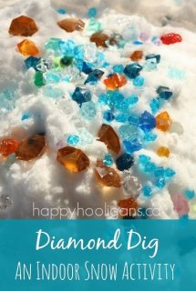 """Diamond Dig"" – A Snowy Sensory Bin"