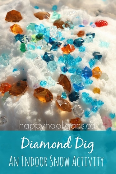diamond dig - a snowy sensory bin by happy hooligans