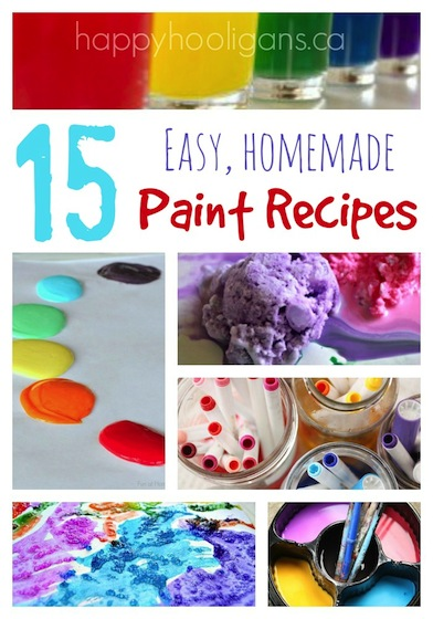15 Easy Homemade Paint Recipes to Make for Your Kids! - Happy Hooligans
