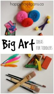 Big Art Ideas for Toddlers
