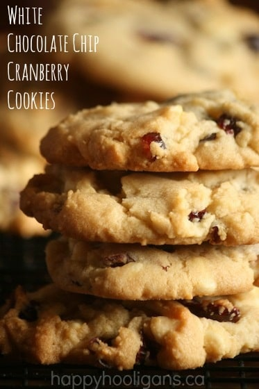 White Chocolate Chip and Cranberry Cookies (perfect for holiday baking)