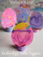 Easter Egg Table Toppers – Painting with Q-tips