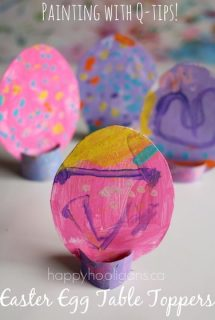 Easter Egg Table Toppers (Craft for Toddlers)- Painting with Q-tips