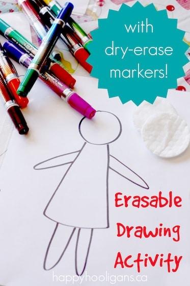 Erasable Drawing Activity- Happy Hooligans
