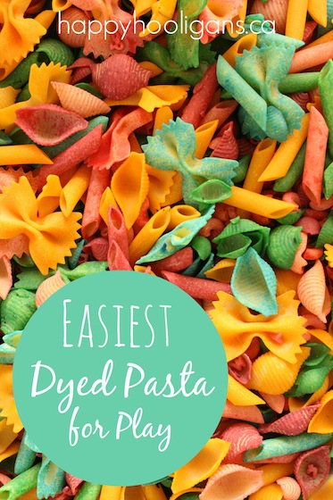 How to Dye Pasta for Play