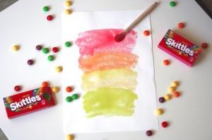 Skittles Painting