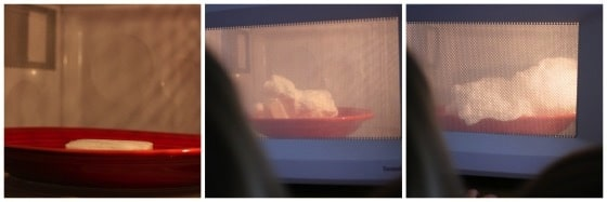 Ivory Soap expanding in microwave