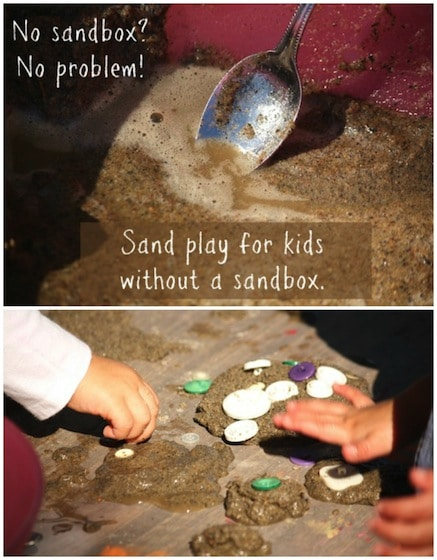 Sand Play Idea – DIY Sand Table For Kids Without a Sandbox