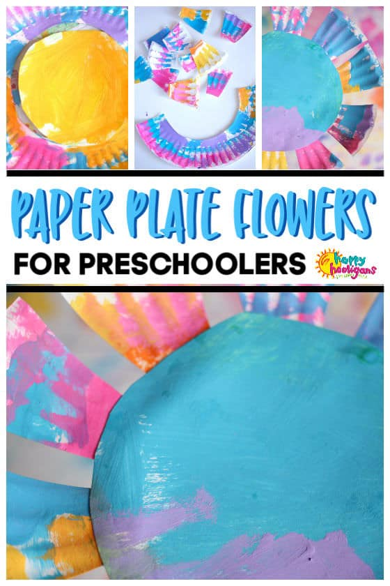 Paper Plate Flower for Toddlers and Preschoolers