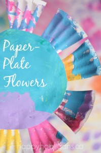 Easy Paper Plate Flowers - Happy Hooligans