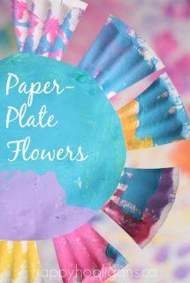Easy Paper Plate Flowers - Happy Hooligans