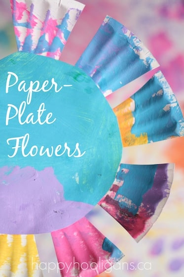 Paper Plate Flower Craft for Toddlers and Preschoolers