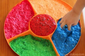 Foaming Koolaid Finger Paint