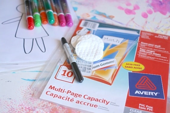 supplies for dry erase drawing with toddlers