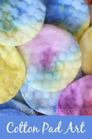 Cotton Pad Art for Toddlers (with Liquid Watercolours)