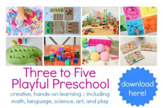 3-5 Playful Preschool 3-book