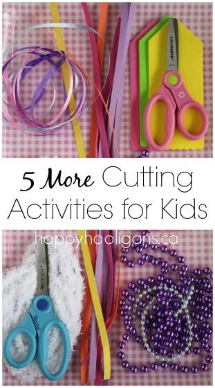 Cutting Practice – 5 More Scissor Activities for Kids
