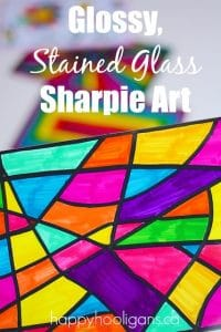 Glossy Stained Glass Sharpie Art