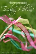 Homemade Twirling Ribbon Sticks
