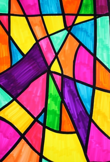 Sharpie Art Made To Look Like Stained Glass Window