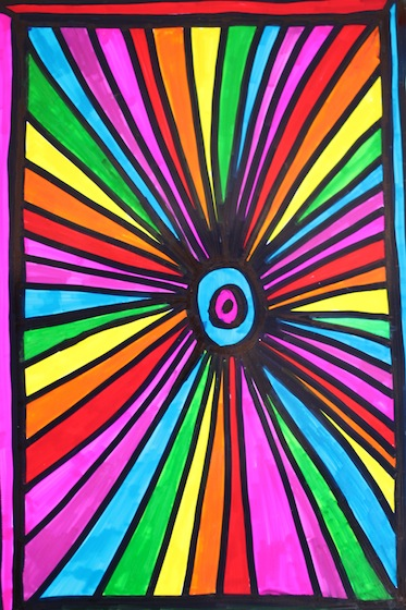 Starburst sharpie art