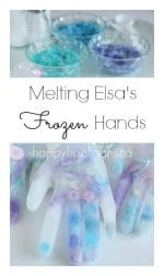 Melting Elsa's Frozen Hands Activity