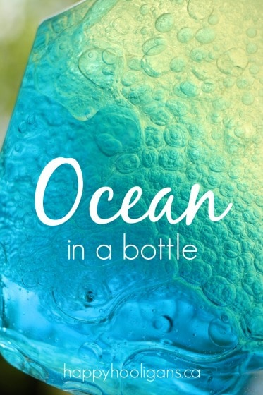 Ocean in a bottle science activity