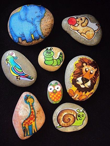 small collection of story stones