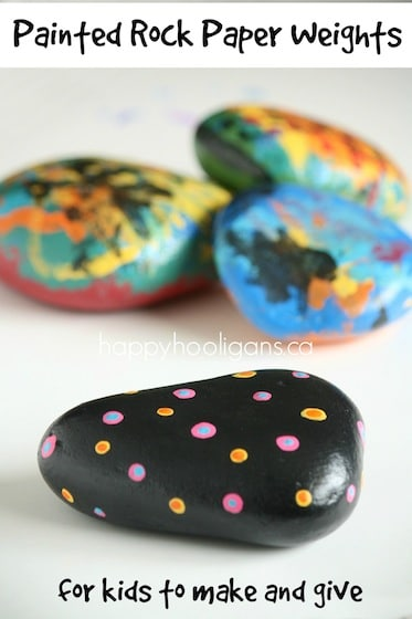 Painted Rock Paper Weight Craft