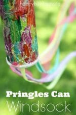 Pringles Can Windsock Craft