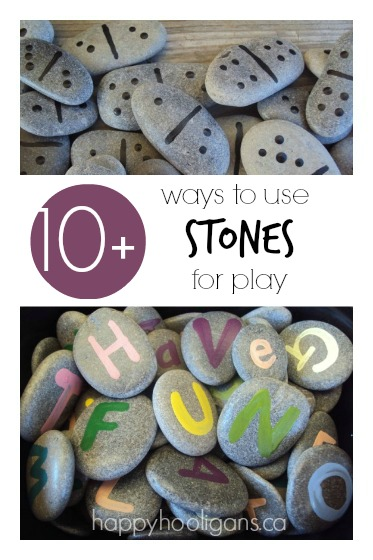 10+ Stone Activities for Kids – Loose Parts in the Back Yard