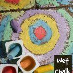 Wet Sidewalk Chalk Activity