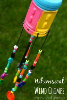 DIY Windchimes from recycled plastic Gatorade bottle