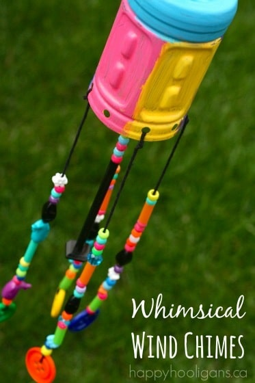 Recycled Bottle Wind Chimes – a Recycled Craft for Kids