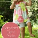 simple backyard tight rope for kids