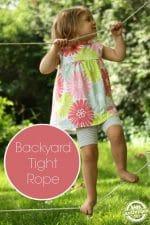 Backyard Tightrope