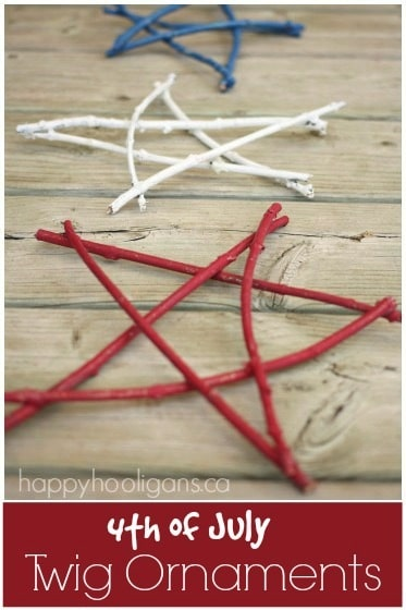 4th of July Twig Ornaments for Kids to Make