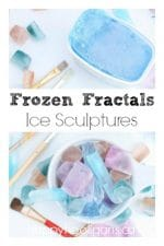 Frozen Fractals Ice Sculptures Activity for Kids