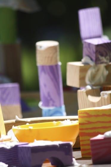 foam blocks and shaving cream structures